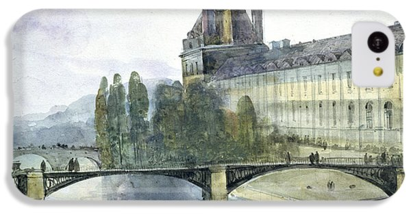 View Of The Pavillon De Flore Of The Louvre IPhone 5c Case by Francois-Marius Granet