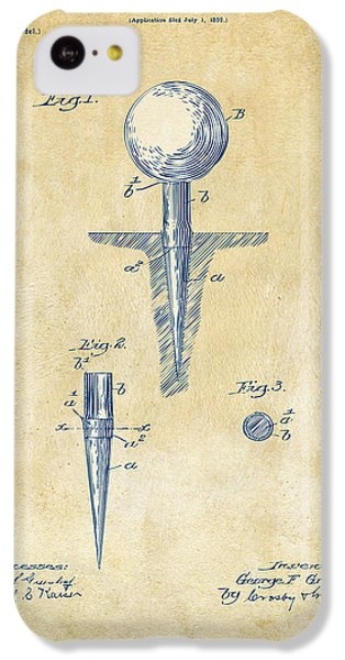 Vintage 1899 Golf Tee Patent Artwork IPhone 5c Case