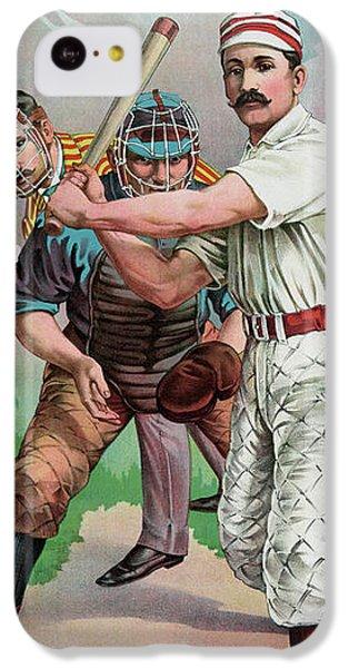 Softball iPhone 5c Case - Vintage Baseball Card by American School