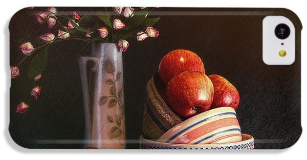 Fruit Bowl iPhone 5c Case - Vintage Bowls With Apples by Tom Mc Nemar