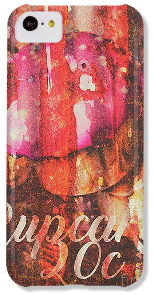 Fairy iPhone 5c Case - Vintage Cupcake Tin Sign by Jorgo Photography - Wall Art Gallery