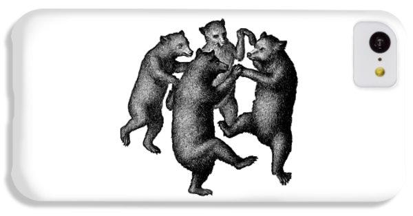 Vintage Dancing Bears IPhone 5c Case by Edward Fielding