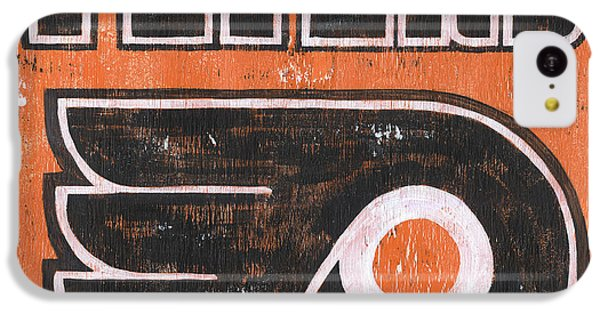 Hockey iPhone 5c Case - Vintage Flyers Sign by Debbie DeWitt