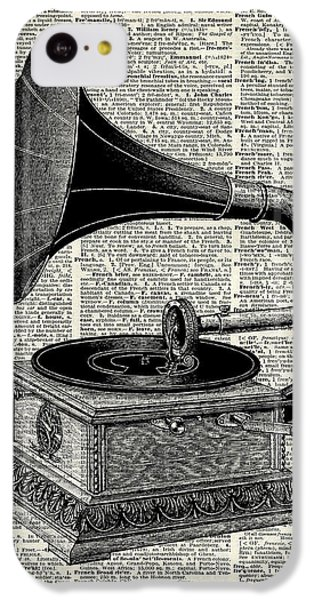 Sound iPhone 5c Case - Vintage Gramophone by Anna W