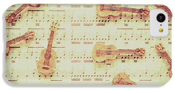 Sound iPhone 5c Case - Vintage Guitar Music by Jorgo Photography - Wall Art Gallery