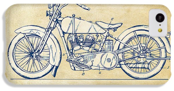 Vintage Harley-davidson Motorcycle 1928 Patent Artwork IPhone 5c Case by Nikki Smith