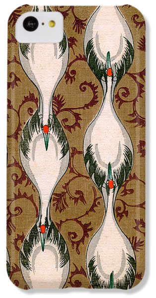 Vintage Japanese Illustration Of Cranes Flying IPhone 5c Case by Japanese School