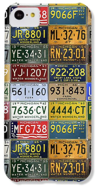 Vintage License Plates From Michigan's Rich Automotive Past IPhone 5c Case by Design Turnpike