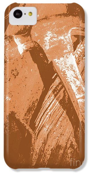 London Tube iPhone 5c Case - Vintage Miners Hammer Artwork by Jorgo Photography - Wall Art Gallery