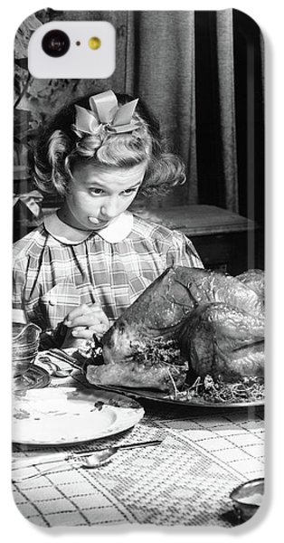 Vintage Photo Depicting Thanksgiving Dinner IPhone 5c Case by American School