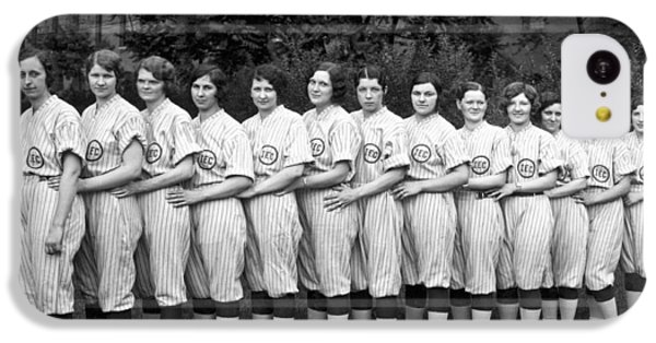 Vintage Photo Of Women's Baseball Team IPhone 5c Case by American School