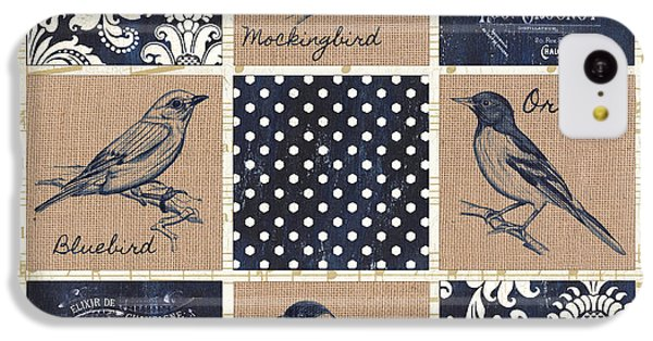 Mockingbird iPhone 5c Case - Vintage Songbird Patch 2 by Debbie DeWitt
