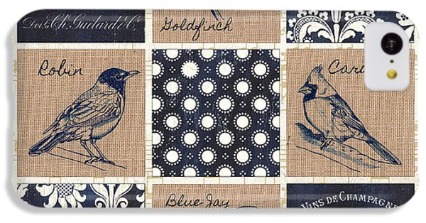 Robin iPhone 5c Case - Vintage Songbirds Patch by Debbie DeWitt