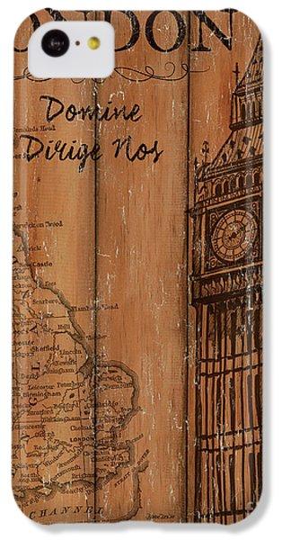 Vintage Travel London IPhone 5c Case by Debbie DeWitt