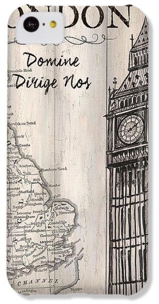 Vintage Travel Poster London IPhone 5c Case