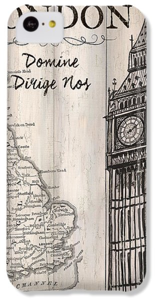 Vintage Travel Poster London IPhone 5c Case by Debbie DeWitt
