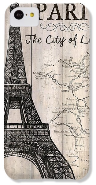 Vintage Travel Poster Paris IPhone 5c Case