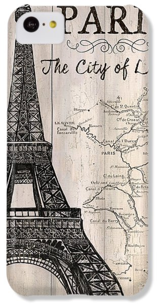 Vintage Travel Poster Paris IPhone 5c Case by Debbie DeWitt