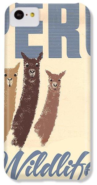 Vintage Wild Life Travel Llamas IPhone 5c Case