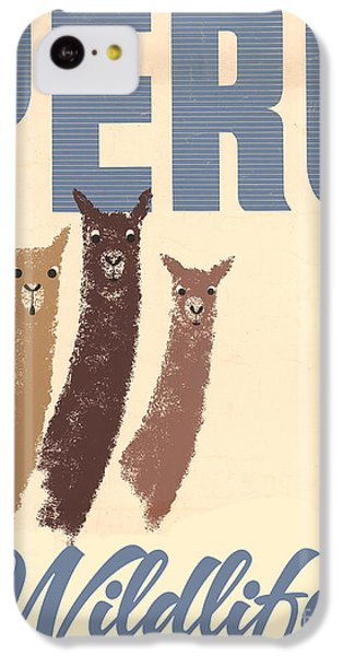 Vintage Wild Life Travel Llamas IPhone 5c Case by Mindy Sommers