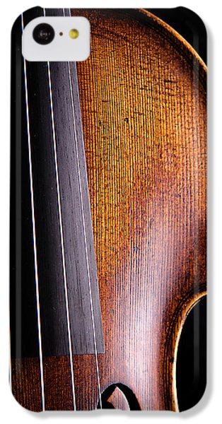 Violin iPhone 5c Case - Violin Isolated On Black by M K  Miller