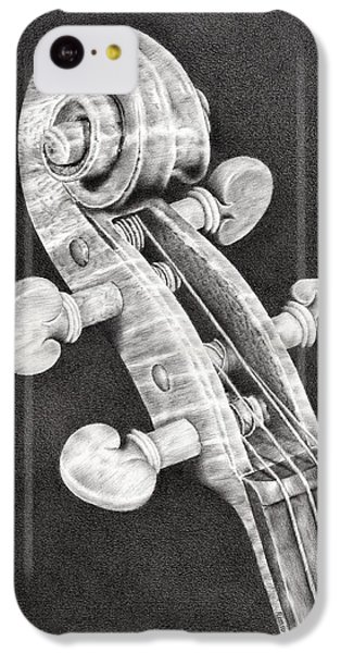 Violin iPhone 5c Case - Violin Scroll by Remrov