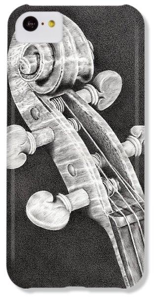 Violin Scroll IPhone 5c Case by Remrov