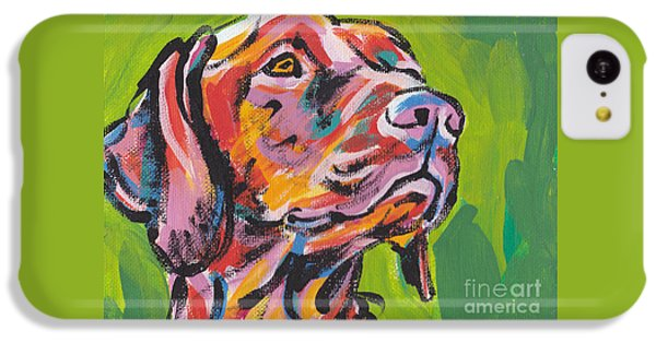 Dog iPhone 5c Case - Viva La Vizsla by Lea S