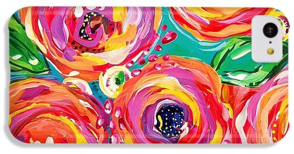 Bright iPhone 5c Case - Vivid Flora by DAKRI Sinclair