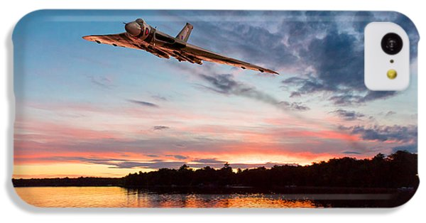 IPhone 5c Case featuring the digital art Vulcan Low Over A Sunset Lake by Gary Eason