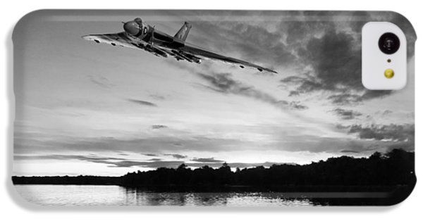 IPhone 5c Case featuring the digital art Vulcan Low Over A Sunset Lake Sunset Lake Bw by Gary Eason