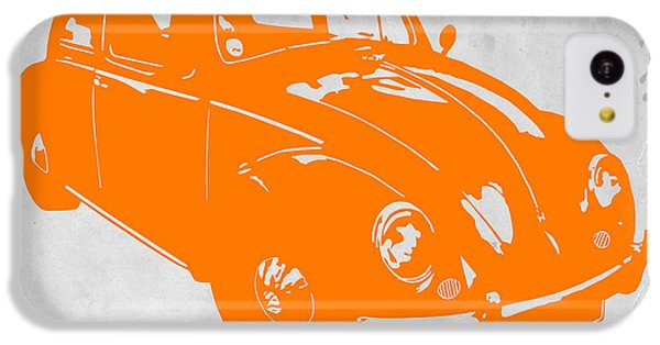 Beetle iPhone 5c Case - Vw Beetle Orange by Naxart Studio