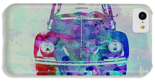 Beetle iPhone 5c Case - Vw Beetle Watercolor 2 by Naxart Studio