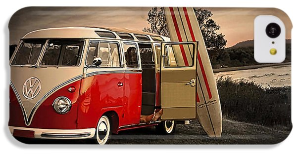 Vw Bus Sufrboard Beach Collection IPhone 5c Case by Marvin Blaine