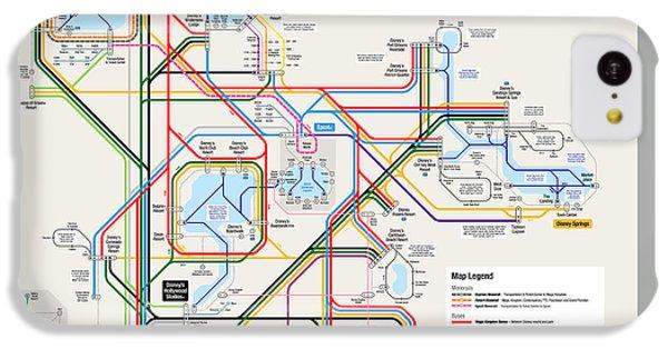 Walt Disney World Resort Transportation Map IPhone 5c Case by Arthur De Wolf