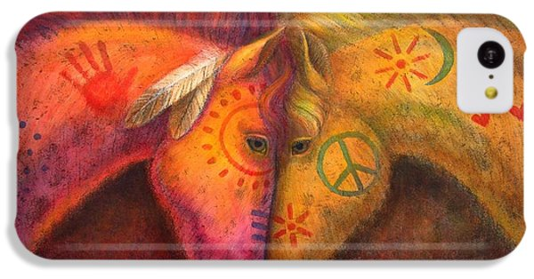 iPhone 5c Case - War Horse And Peace Horse by Sue Halstenberg