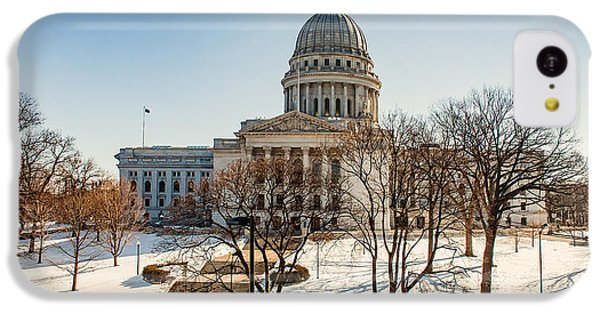 Capitol Building iPhone 5c Case - Warm Winter Capitol by Todd Klassy