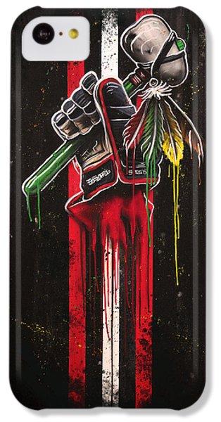 Hockey iPhone 5c Case - Warrior Glove On Black by Michael Figueroa