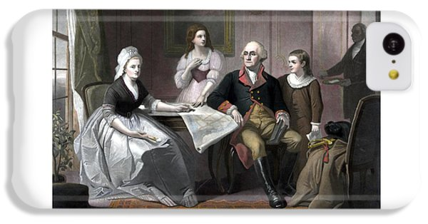 Washington And His Family IPhone 5c Case by War Is Hell Store