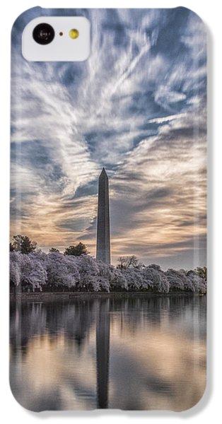 Washington Monument iPhone 5c Case - Washington Blossom Sunrise by Erika Fawcett