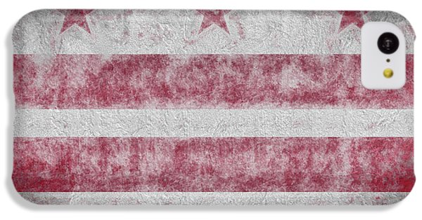 IPhone 5c Case featuring the digital art Washington Dc City Flag by JC Findley