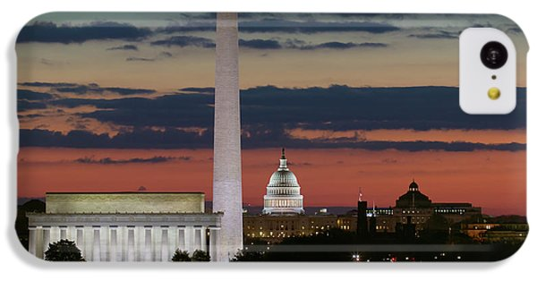 Lincoln Memorial iPhone 5c Case - Washington Dc Landmarks At Sunrise I by Clarence Holmes