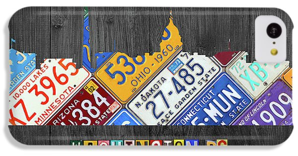Washington Dc Skyline Recycled Vintage License Plate Art IPhone 5c Case by Design Turnpike