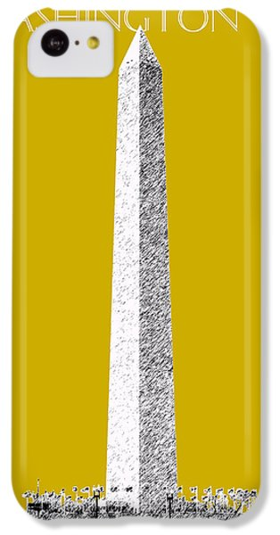 Washington Dc Skyline Washington Monument - Gold IPhone 5c Case by DB Artist