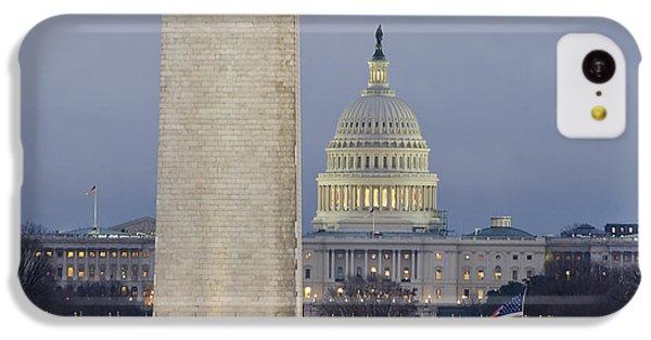 Washington Monument iPhone 5c Case - Washington Monument And United States Capitol Buildings - Washington Dc by Brendan Reals