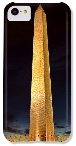 Washington Monument At Night  IPhone 5c Case by Olivier Le Queinec