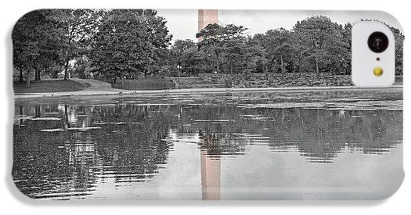 Washington Monument iPhone 5c Case - Washington Monument Mallards In Love by Betsy Knapp