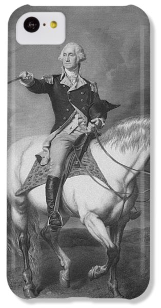 Washington Receiving A Salute At Trenton IPhone 5c Case by War Is Hell Store