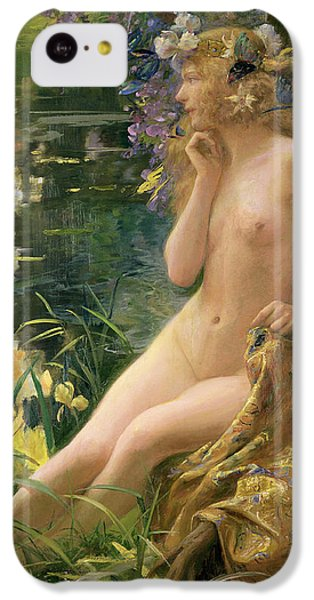 Water Nymph IPhone 5c Case by Gaston Bussiere