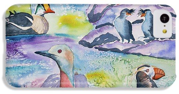 Watercolor - Alaska Seabird Gathering IPhone 5c Case